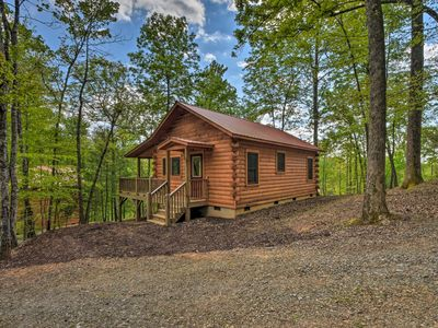 Photo for NEW! Cozy Log Cabin w/Private Deck, 8 Mi to Murphy