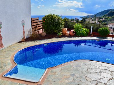 Photo for Stunning Direct Sea Views. Private Pool. Total Privacy. Luxury 2 bed Villa.