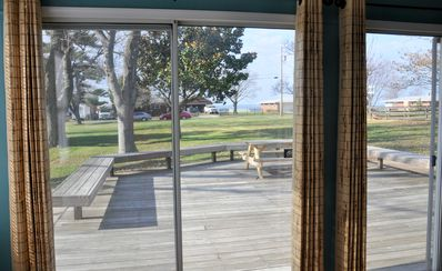 LOCation, BAYcation, STAYcation! Large deck overlooking the Bay and Marina.