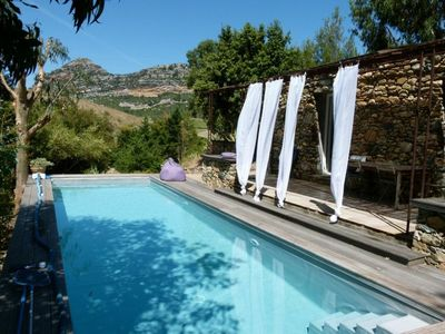 Photo for Character barn with heated pool surrounded by vineyards in Patrimonio