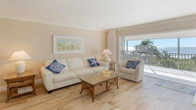 Photo for White Sands #32 Beautiful beachfront condo, 2 bedroom 2 bath with cabana Sleeps 6