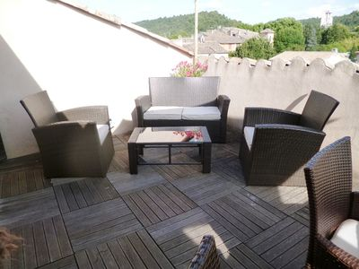 Photo for Nice apartment F3 terrace at the foot of the Gorges du Verdon