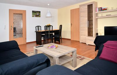 Photo for Comfortable large apartment near Dresden (85 sqm) free Wi-Fi -Am Schwedenstein