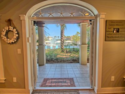 Photo for Poolside Villa, Loca,Loca, 100 yds  to beach, walk to town square in Rosemary