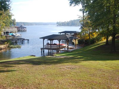 Lake view from deck. Boat ramp in yard.  Sinclair Marina is a minute away.