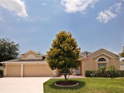 Photo for 5 BR Executive Villa, Large Pool, Gated Community in Championsgate Near Disney