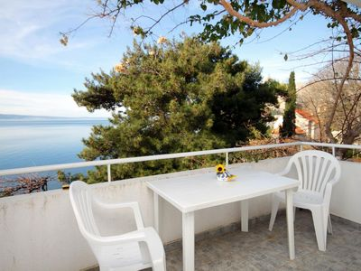 Photo for One bedroom apartment with terrace and sea view Omiš