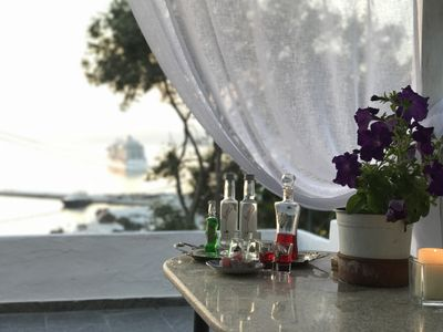 Photo for Stay in the Heart of Mikonos City with amazing view in Natasa Garden Suite