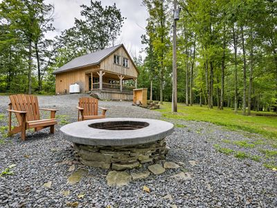 Photo for Lovely Ulster Cabin w/Hot Tub, Fire Pit & 3 Ponds!