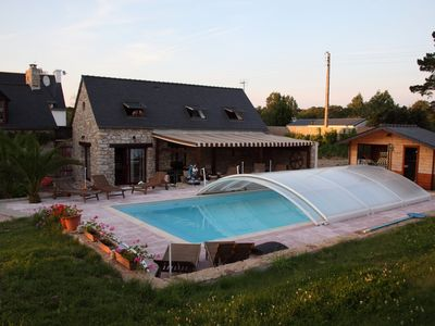 Photo for Pretty farmhouse with pool, sauna, quiet and greenery 5 minutes from the beaches