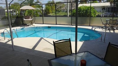 Photo for Villa Riverside -Pets allowed  by the canal with pool in Fort Myers
