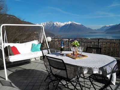 Photo for Holiday house with stunning view  situated in  Dongo, about 1,5 km from the lake