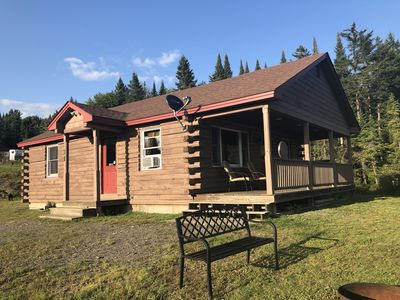 Comfortable log cabin with direct access