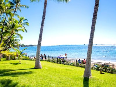 Photo for K B M Hawaii: Air Conditioned & Beach Front 4 Bedroom, FREE car! Jul & Sep Specials From only $1,599!