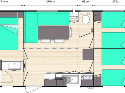 Photo for Camping Le Pearl **** - Mobilhome for 6 People