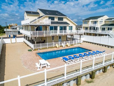 Photo for Shore Relaxin' | Oceanfront | Dog Friendly, Private Pool, Hot Tub