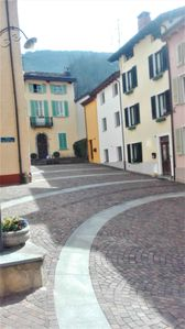 View of the village square from the entrance door