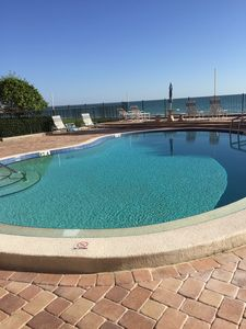 Large swimming pool, not heated