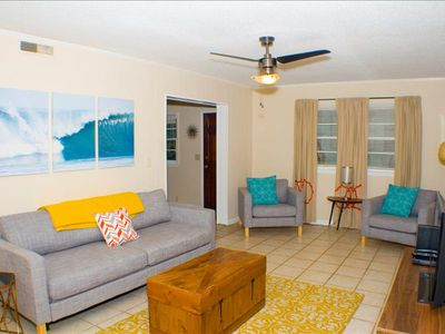 Photo for Atomic Folly Blast from the Past Classic 2 Bedroom Duplex Close to Beach! Downstairs Unit