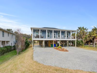Photo for Beautiful ocean view home w/ free WiFi is just across the street from the beach!