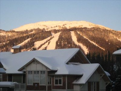 View of the Ski Hills from the Living area and the Hot tub