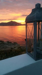 Photo for House by the sea,overlooking the sunset of Naousa!