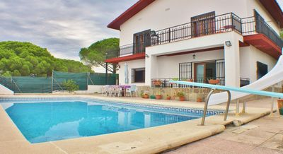 Photo for Holiday house with pool, Wifi and parking in Sant Pol de Mar, Costa Barcelona - CM451