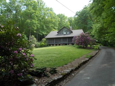 Photo for Large historic Log House on the creek and in the woods
