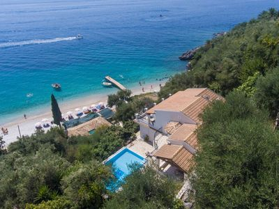 Photo for Villa Kerkyroula: Large Private Pool, Walk to Beach, Sea Views, A/C, WiFi, Car Not Required