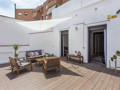 Photo for 2 bedroom design flat with terrace in Poble Sec