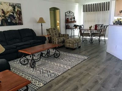 Living room with new flooring