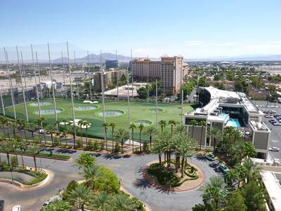 The view from your balcony. Top Golf.