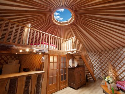Photo for Contemporary family cantal yurt 6 pers