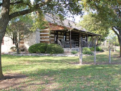 Photo for Reconstructed 1860's Dogtrot Cabins on the beautiful and scenic Diamond Y Ranch