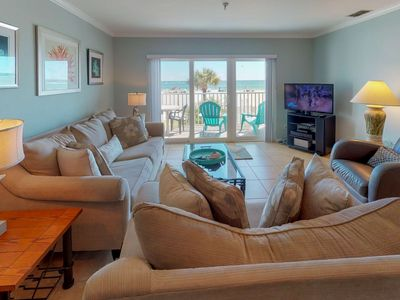 Photo for Overlooking the Beach and Pool.  A Great Location, Setup for a Great Vacation!
