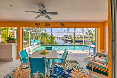 The 3-bedroom, 2-bathroom home boasts nearly 1,900 square feet and room for 8.