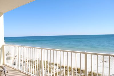 This is the view from our balcony. it doesn't get any better than this!