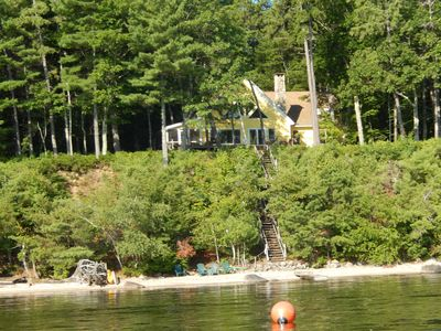 The house as seen from the lake.