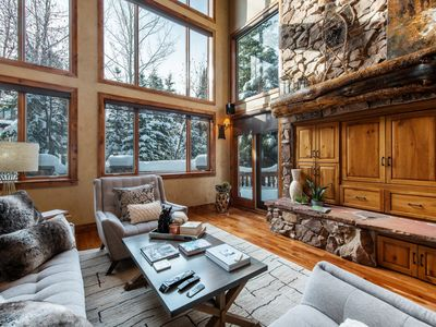 Photo for Slopeside Chalet at Canyons Village with Theater Room, Hot Tub and Mountain Views