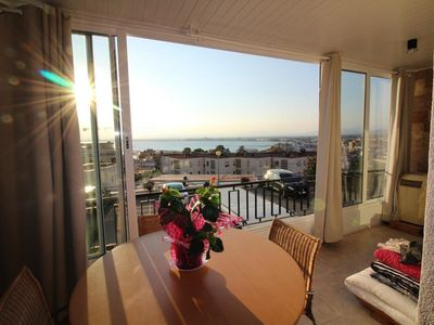 Photo for Nice location for this apartment renovated with terrace to eat it.