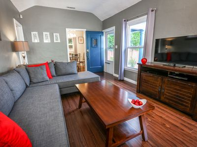 Photo for Hollywood Glamour on Melrose Avenue – Chic 2BR w/ AC & Lush Patio