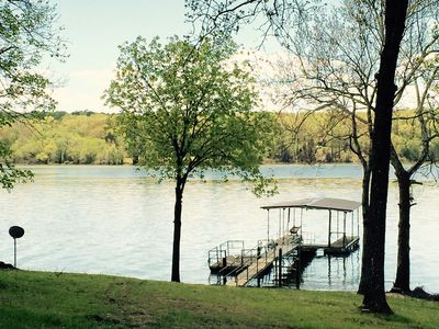 Photo for Lake Front Cabin With Covered Boat Dock On Beautiful  Kentucky Lake!