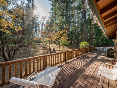 Photo for NEW LISTING! Comfy home in forested setting w/deck, year-round activities
