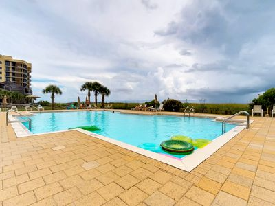 Photo for NEW LISTING! Beachfront condo with amazing views and a shared pool!
