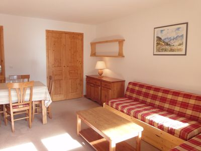 Photo for Comfortable apartment with balcony located next to the slopes in Meribel-Mottaret