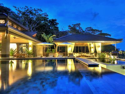 Photo for Villa de Agua: Ultra-Luxury Balinese Ocean-View Villa w/ 4 Master Bedrooms!
