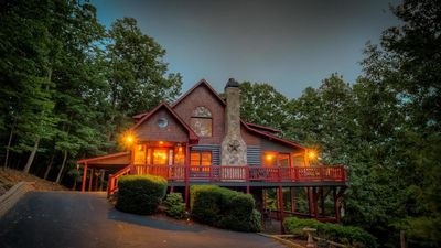 Photo for Paradise Ridge- Jaw dropping Views | Screened Deck | Large Hot Tub