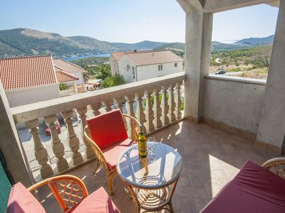 Photo for One bedroom apartment with terrace and sea view Grebaštica, Šibenik (A-11572-c)