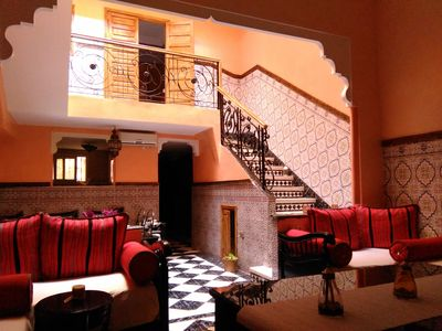 Photo for Riad Jasmeene: Triplex, terrace, reversible air conditioning and WiFi!