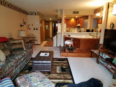 Photo for Cozy, Peaceful Condo With Jacuzzi, WiFi, Creek View! May Special! Only $79/nt!